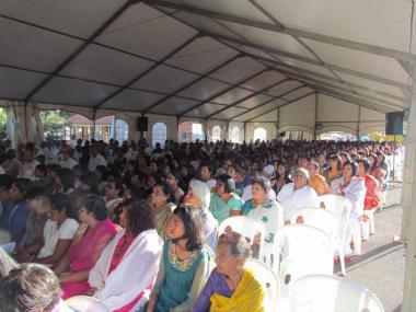 Section of the Devotees gathered in Satsang