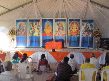 Satsang in progress