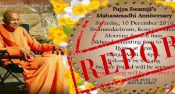 Report: Pujya Swami Sahajananda's 9th Mahasamadhi Anniversary