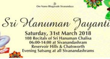 Report: Sri Hanuman Jayanti & 108 Recitals of Sri Hanuman Chalisa