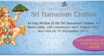 Report: 41 Day Sri Hanuman Chalisa Campaign 2017