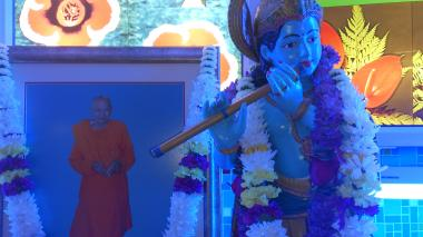 Lord Krishna and Pujye Swamiji