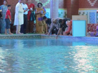 Devotees receive Darshan of Ganga Mata in Ganga Rani
