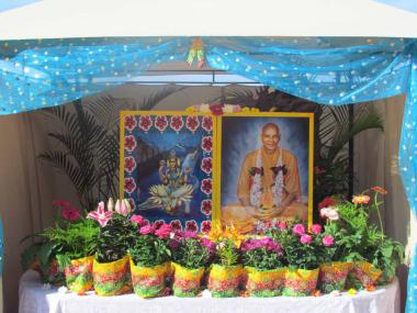 Shrine constructed in the courtyard outside the Main Prayer Hall