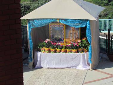 Sivananda Ganga Shrine - outside the Main Prayer Hall