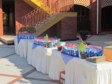 Sachets of Ganga water in readiness for Devotees to offer at the 4 Ganga Shrines