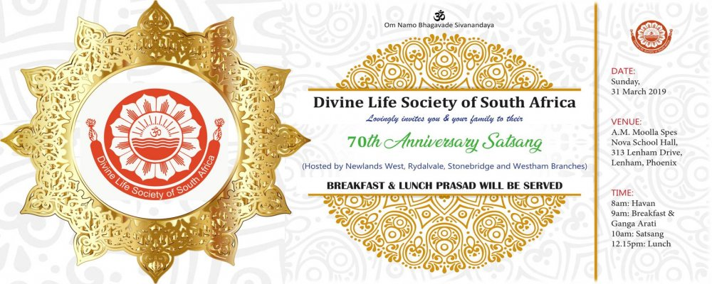 Report: 70th Anniversary Satsang: Newlands West & Phoenix Branches
