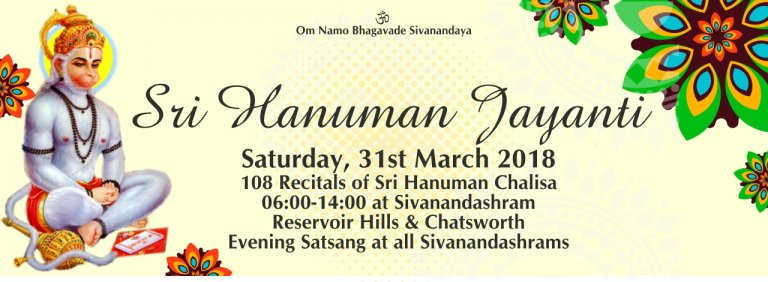 Report: Sri Hanuman Jayanti & 108 Recitals of Sri Hanuman Chalisa