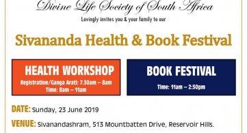 Sivananda Health Workshop & Book Festival