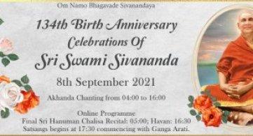 Report: Sri Swami Sivananda's 134th Birth Anniversary